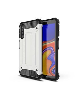Lunso Lunso - Armor Guard hoes - Samsung Galaxy A7 2018 - wit