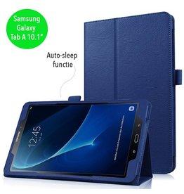 Stand flip sleepcover hoes - Samsung Galaxy Tab A 10.1 inch (2016) - blauw