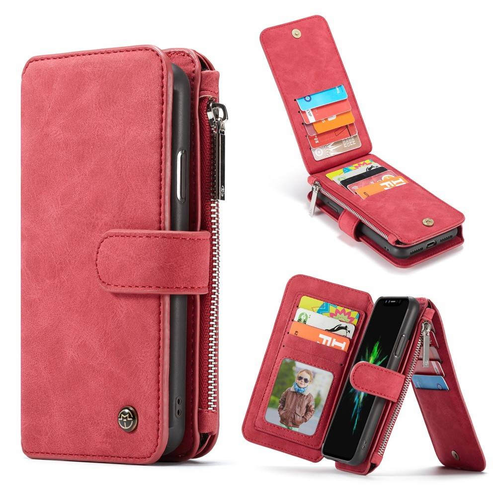 Caseme luxe portemonnee hoes iPhone XR rood   CasualCases.nl