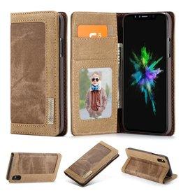 Caseme Caseme luxe wallet hoes - iPhone XS Max - bruin