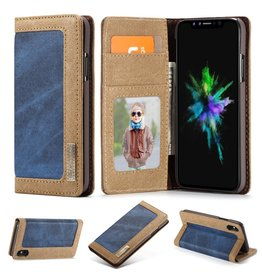 Caseme Caseme luxe wallet hoes - iPhone XS Max - blauw