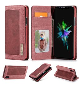 Caseme Caseme luxe wallet hoes - iPhone XS Max - rood