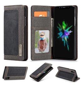 Caseme Caseme luxe wallet hoes - iPhone XS Max - zwart