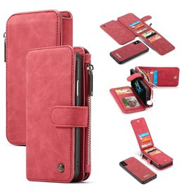 Caseme Caseme luxe portemonnee hoes - iPhone XS Max - rood