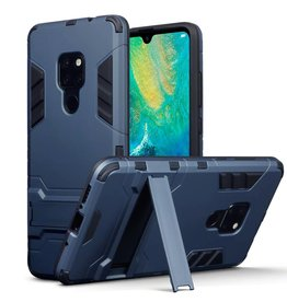 Qubits Qubits - Double Armor Layer hoes met stand - Huawei Mate 20 - blauw