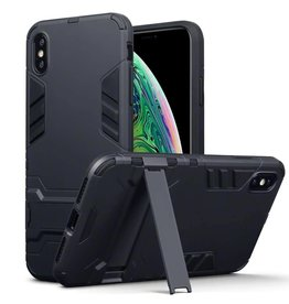Qubits Qubits - Double Armor Layer hoes met stand - iPhone XS Max