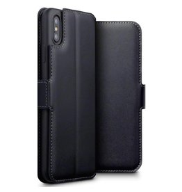 Qubits Qubits - lederen slim folio wallet hoes - iPhone XS Max - zwart