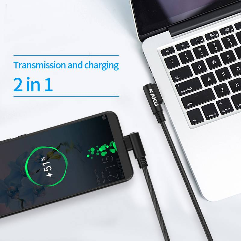 iKaku iKaku lightning 1 meter fast charger oplaadkabel zwart voor Apple-apparaten