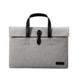 "Cartinoe - canvas fashion laptoptas 13"" - grijs"