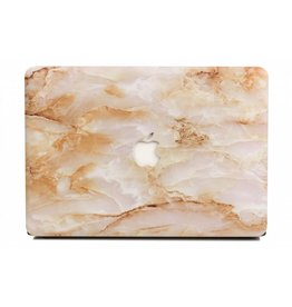 Lunso Lunso - cover hoes - MacBook Pro 15 inch (2012-2015) - Marble Deliah