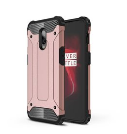 Lunso Lunso - Armor Guard hoes - Oneplus 6T - roze / goud