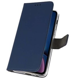 Bookwallet hoes - iPhone XR - blauw