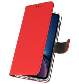 Bookwallet hoes - iPhone XR - rood