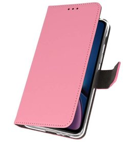 Bookwallet hoes - iPhone XR - roze