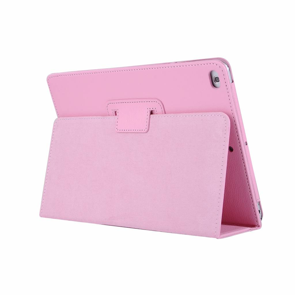 Stand flip sleepcover hoes - iPad 9.7 (2017/2018) / Pro 9.7 / Air / Air 2 - lichtroze
