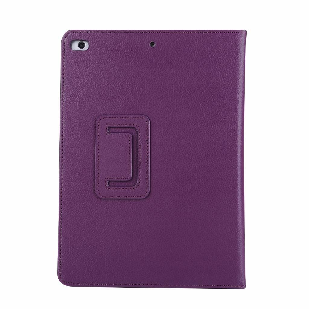 Lunso Stand flip sleepcover hoes paars voor de iPad 9.7 (2017/2018), iPad Pro 9.7, iPad Air en iPad Air 2