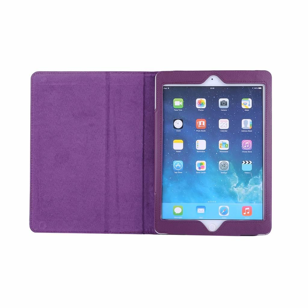 Stand flip sleepcover hoes paars voor de iPad 9.7 (2017/2018), iPad Pro 9.7, iPad Air en iPad Air 2