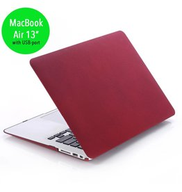 Lunso Lunso - cover hoes - MacBook Air 13 inch (2010-2017) - Sand bordeaux rood