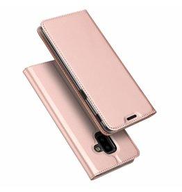 Dux Ducis Dux Ducis pro serie - slim wallet hoes - Samsung Galaxy J6 Plus 2018 - roze / goud