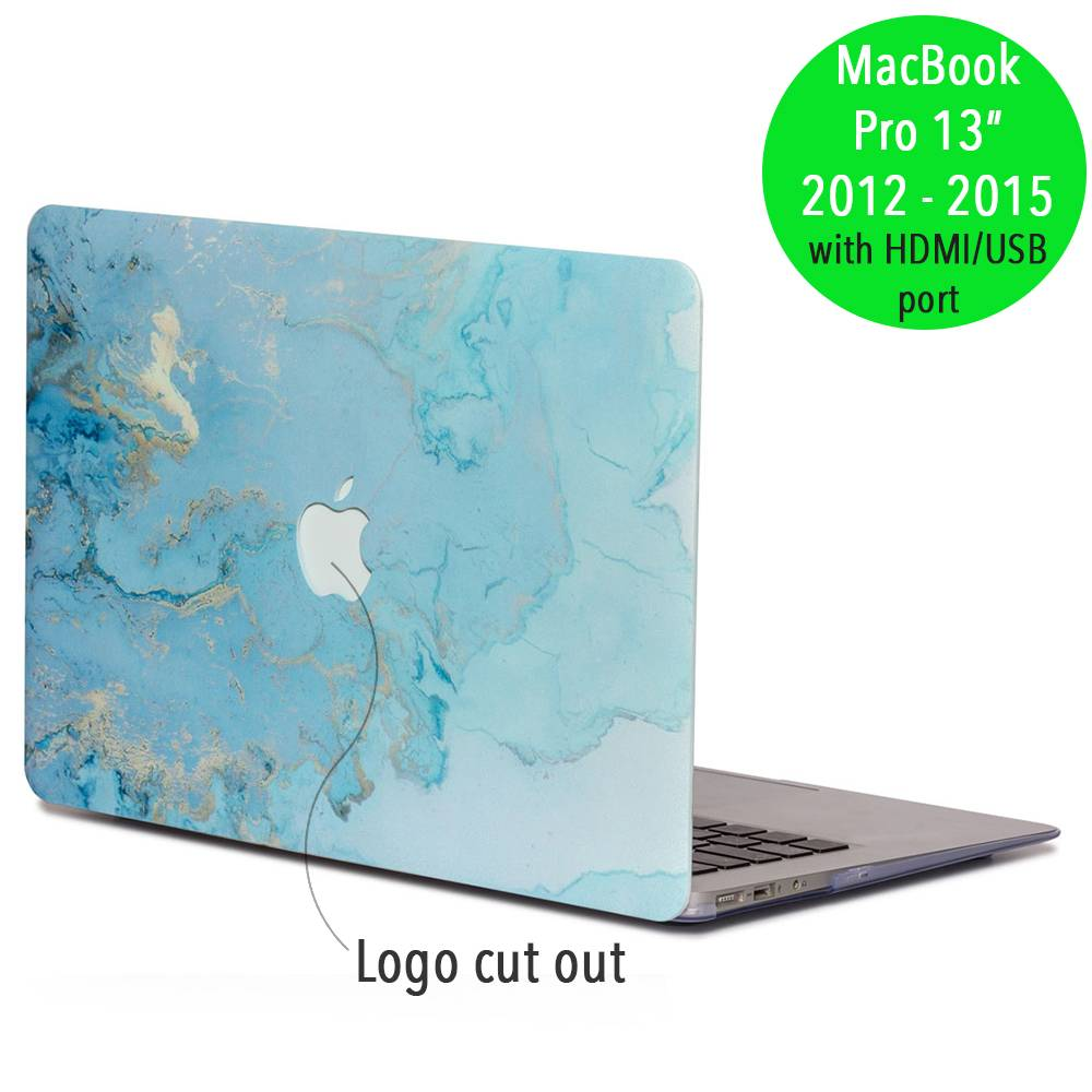 Lunso Lunso Marble Ariel cover hoes voor de MacBook Pro 13 inch (2012-2015)