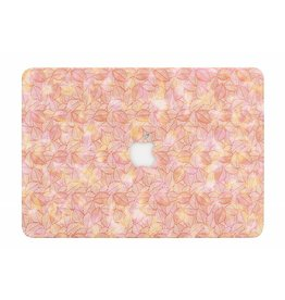 Lunso Lunso - cover hoes - MacBook Air 13 inch (2012 - 2017) - blaadjes roze
