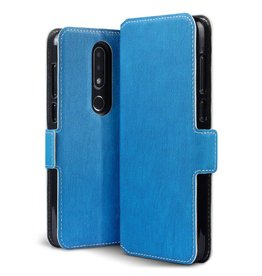 Qubits Qubits - slim wallet hoes - Nokia 6.1 Plus- blauw