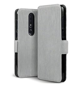 Qubits Qubits - slim wallet hoes - Nokia 6.1 Plus- grijs
