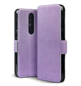 Qubits Qubits - slim wallet hoes - Nokia 5.1 Plus- paars