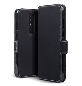 Qubits Qubits - slim wallet hoes - Nokia 5.1 Plus- zwart