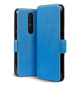 Qubits Qubits - slim wallet hoes - Nokia 5.1 Plus- blauw