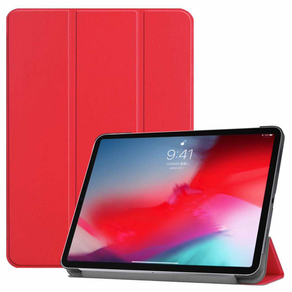 3-Vouw sleepcover hoes - iPad Pro 11 inch (2018-2019) - rood