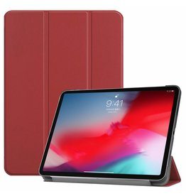 3-Vouw sleepcover hoes - iPad Pro 11 inch - bordeaux rood