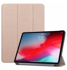 3-Vouw sleepcover hoes - iPad Pro 11 inch - roze/goud
