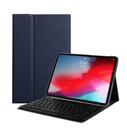 Lunso Lunso - afneembare Keyboard hoes - iPad Pro 11 inch - blauw