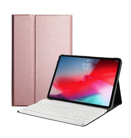 Lunso Lunso - afneembare Keyboard hoes - iPad Pro 11 inch - roze/goud