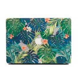 Lunso Lunso - cover hoes - MacBook 12 inch - Tropical leaves