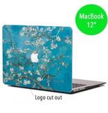 Lunso Lunso cover hoes Van Gogh amandelboom voor de MacBook 12 inch