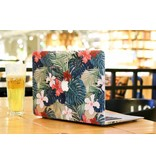 Lunso Lunso Tropical leaves red cover hoes voor de MacBook 12 inch
