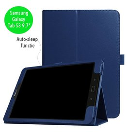 Stand flip sleepcover hoes - Samsung Galaxy Tab S3 9.7 inch - blauw