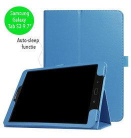 Stand flip sleepcover hoes - Samsung Galaxy Tab S3 9.7 inch - lichtblauw