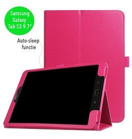 Stand flip sleepcover hoes - Samsung Galaxy Tab S3 9.7 inch - roze