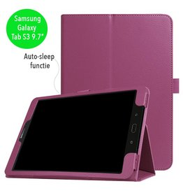 Stand flip sleepcover hoes - Samsung Galaxy Tab S3 9.7 inch - paars