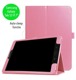 Stand flip sleepcover hoes - Samsung Galaxy Tab S3 9.7 inch - lichtroze