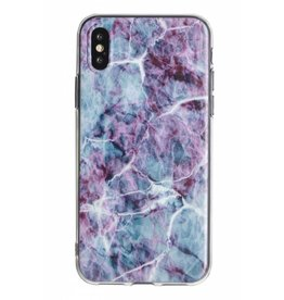Lunso Lunso - backcover hoes - iPhone X / XS - Marble Scarlett
