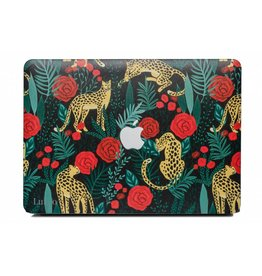Lunso Lunso - cover hoes - MacBook Pro 13 inch (2016-2019) - Leopard Roses
