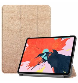 3-Vouw sleepcover hoes - iPad Pro 12.9 inch (2018-2019) - goud