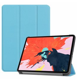 3-Vouw sleepcover hoes - iPad Pro 12.9 inch (2018) - lichtblauw