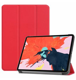 3-Vouw sleepcover hoes - iPad Pro 12.9 inch (2018) - rood