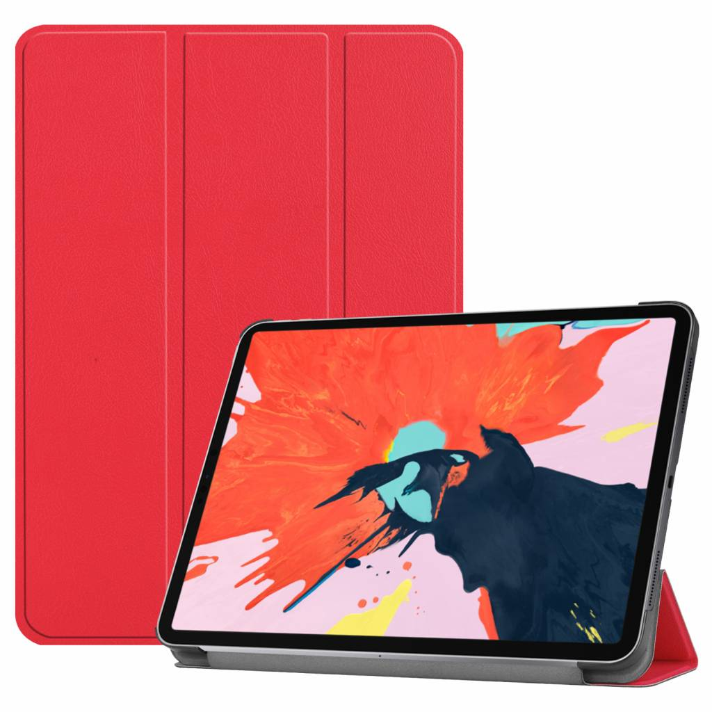 3-Vouw sleepcover hoes - iPad Pro 12.9 inch (2018-2019) - rood
