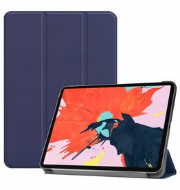 3-Vouw sleepcover hoes - iPad Pro 12.9 inch (2018) - blauw